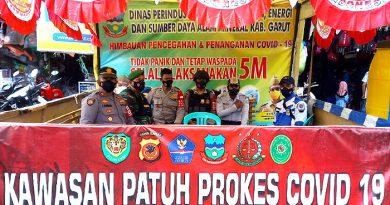 Gelar Patroli PPKM Level 3, Kapolsek Bayongbong Garut Ajak Masyarakat Disiplin Prokes