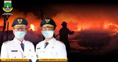 Pemprov Banten Sampaikan Duka Cita Peristiwa Kebakaran Lapas Klas I Tangerang