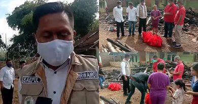 Korban Kebakaran Kampung Bojowaru Desa Padamukti Dapat Bantuan dari PDIP Garut
