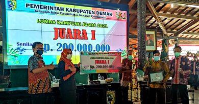 Lomba Kampung Juara 2021 Kabupaten Demak: Kampung Pesona Pujatim Raih Juara I